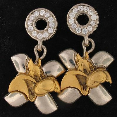EARRINGS Sylvester WARNER BROS LOONEY TUNES WB STORE .88 tcw CZ Gold 5107