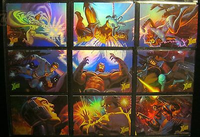 1996 Fleer Ultra X-Men: Wolverine HOLOFLASH Chase/Insert 9-Card Set NM/Mint RARE