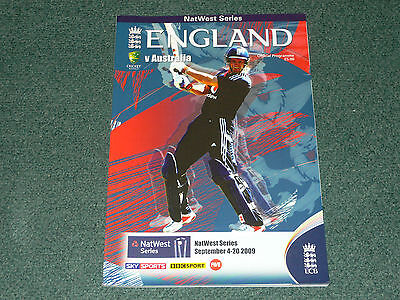2009 NatWest Series Cricket official programme - ENGLAND v. AUSTRALIA