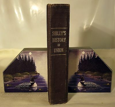 Pair of Genuine Slate Bookends of Mirrored Loons by Maine Artist Lou Page
