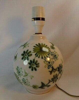 Vintage Rye Pottery Lamp Base Green