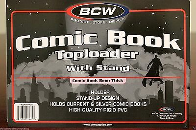 Bcw Comic Book Rigid Topload Holder Display Frame With Stand Toploader Case