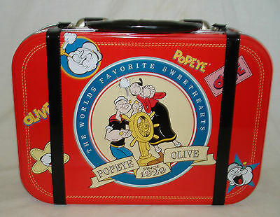 The Worlds Favorite Sweetharts Popeye & Olive Tin tote Lunch Box
