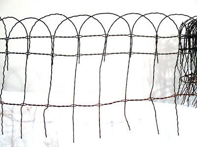 "Vintage Garden Fence HAIRPIN 22 Ft 267"" 15 1/2"" tall Shabby Chic Fencing Trellis"