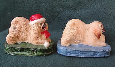 VINTAGE PEKINGESE PEKE PR Charmstone By Marv-Art One 4 Everyday, One 4 Christmas
