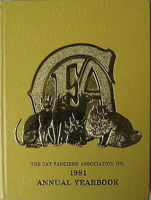 Vintage Cat Book  The Cat Fanciiers' Association Inc.  1981 Yearbook