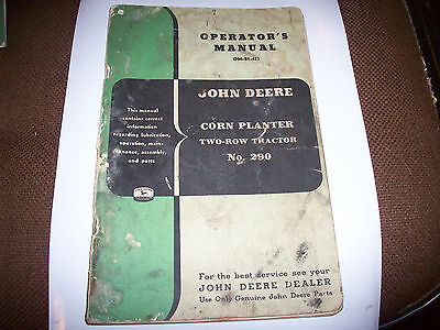 Original 290 Two-Row Tractor Planter Operator's Manual