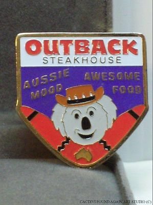 Outback Steakhouse Restaurant Pin Koala Boomerang Aussie Mood Awesome Food Badge