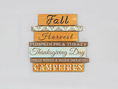 Youngs Fall Decor - Thanksgiving Harvest Faith Family Wood Pallet Sign #86018