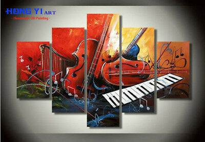 Large Modern Art Wall Music Abstract OIL Painting Canvas Home Decor Framed mus24