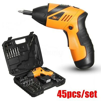 45 Pieces 4.8V Electric Cordless Screwdriver Drill Driver Set Rechargeable Drill