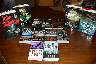 Nice Bundle of LUCAS DAVENPORT the Prey series by JOHN SANDFORD free s/h CAN