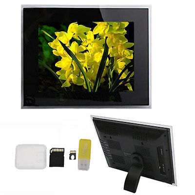 "15"" Digital Frame Photos Picture 1024*768 MP3 Player Black+8GB TF Memory Card"