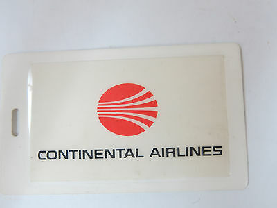 Continental Airlines luggage tag.  Business card sealed in place. Not reuseable