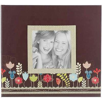 "Pioneer Raised Frame Printed Post Bound Album 8""X8"" Garden 023602640924"