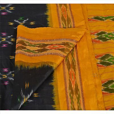 Sanskriti Vintage Indian Saree Hand Woven Patola Sari Fabric 100% Pure Silk