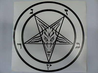 Baphomet  Large 10 Inches   Vinyl Car Decal Sticker
