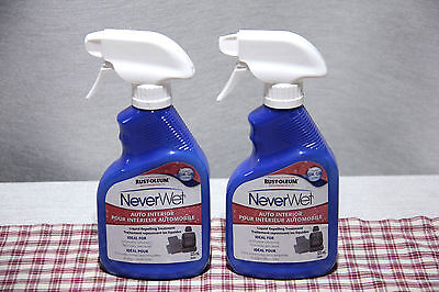 LOT of 2 RUST-OLEUM NeverWet  Auto Interior LIQUID REPELLING TREATMENT 325ml