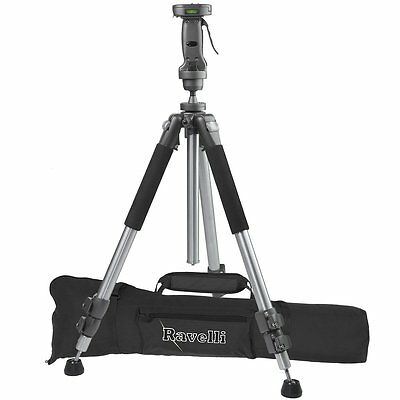 """Ravelli APGL4 New Professional 70"""" Tripod with Adjustable Pistol Grip Head and"""