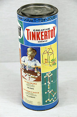 Vintage 1972 Original TINKERTOY Junior Architect, 105 out of 125 pieces, 65 136