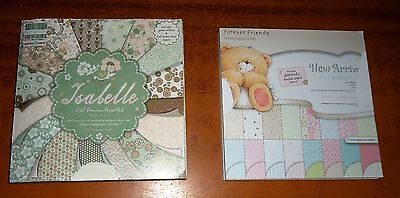 CRAFT Wedding CARD MAKING Glitter Patterned Paper 6 x 6 Pad (2) 64 and 24 Sheets