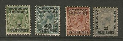 GB Offices in Morocco 1917 & 1926 KGV SG128,134,145,147 MH