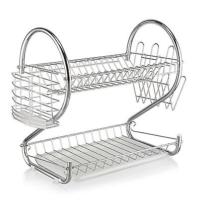 Stainless Steel Dish Plate Bowl Cup Drying Rack Drainer Cutlery Holder Organizer