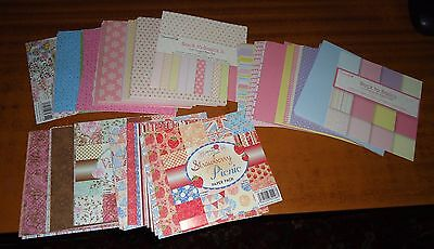 CRAFT Wedding CARD MAKING Patterned Paper 6 x 6 Loose PAD SHEETS (260+) # 2