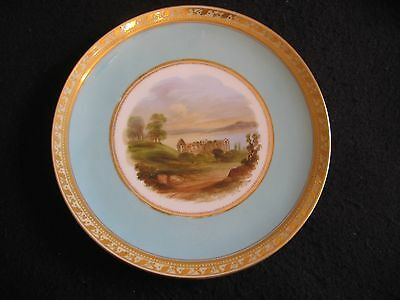 "VICTORIAN AYNSLEY BONE CHINA HAND PAINTED #1949 8.75"" CABINET PLATE 2 c.1890 EX"