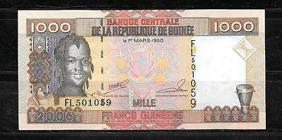Guinea #40 2006 Unc Mint 1000 Francs Banknote Paper Money Currency Bill Note