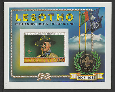 Lesotho 4328 - 1982 SCOUTING IMPERF M/SHEET  unmounted mint (BADEN POWELL)