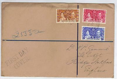 Leeward Islands 1937 Coronation First Day Cover