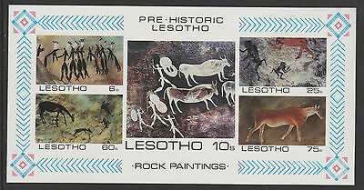 Lesotho 4332 - 1983 ROCK PAINTINGS IMPERF M/SHEET  unmounted mint