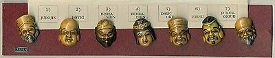 Highly Sought After Japanese Toshikane CELLULOID Buttons 7 Lucky Gods