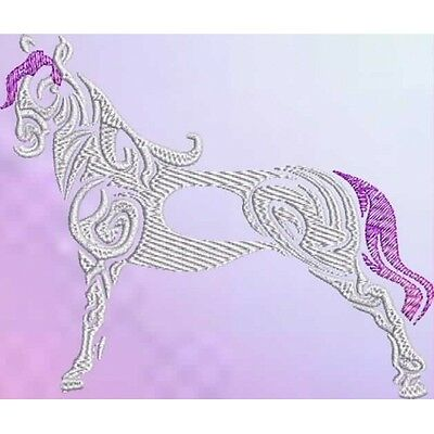 Embroidered Ladies Short-Sleeved T-Shirt - Tribal Horse S1-08 Sizes S - XXL