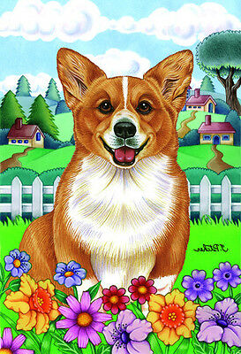 Large Indoor/Outdoor Spring Flag - Pembroke Welsh Corgi 73045 TP