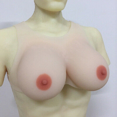 Realistic Skin Soft Full Silicone Breast Forms With Strap CD TG Drag Boobs hot 9