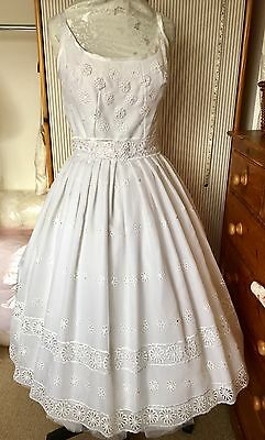 Retro Wedding Dress Restyled For Today's Bride Size 16 New 50/60's