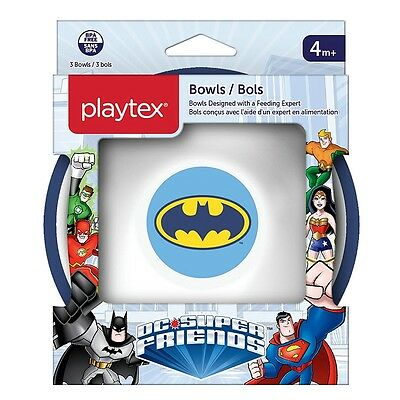 Playtex DC Super Friends Bowls, 3 Pack - Batman