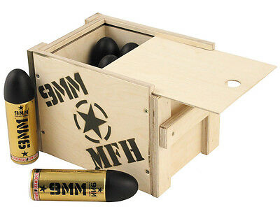 SURVIVAL Energy Drink 9 MM 0,25l in Holzbox 12