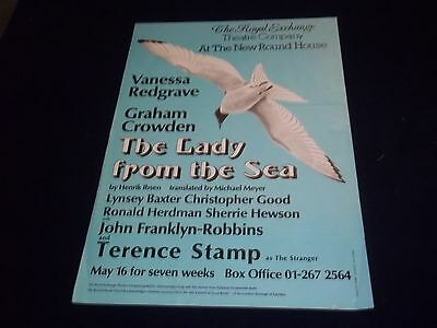 1976 The Lady From The Sea Royal Exchange Theater Poster Vanessa Redgrave- P 150