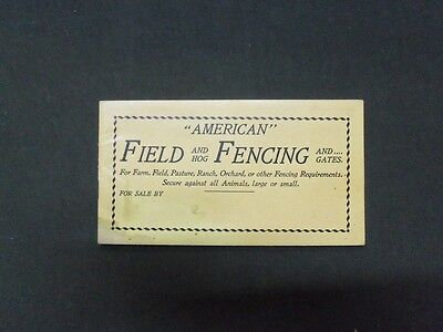 1899 American Field And Hog Fencing Catalog - American Steel & Wire - Ii 8297