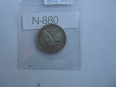 Vintage Usa  1930 25 Cent Silver Standing Liberty  N880