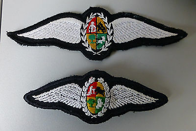 SOUTH AFRICA AIR FORCE 2  different OBSOLETE PILOTS  1980'S AVIATOR PILOT WINGS
