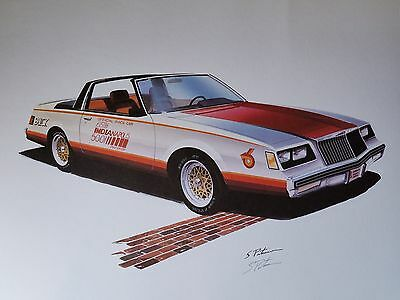 POSTER SIGNED PRINT INDY PACE CAR 1981 Buick Regal Sport Turbo Pasteiner