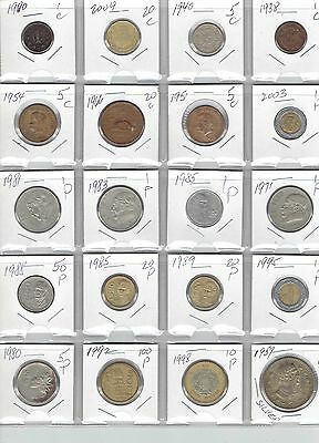 MEXICO Lot of 20 Different Coins - 1 Silver Coin