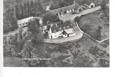Aerial view of Overscaig Hotel, Sutherland