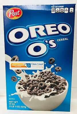 Oreo O's Cereal 19 oz Post  * FRESH *