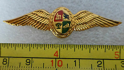 SOUTH AFRICA AIR FORCE PILOT WING METAL OLD Mess Dress 1980'S SAAF AFRICAN WINGS