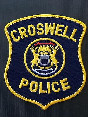 Croswell  Michigian Police  Shoulder Patch